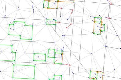Ausgleichungsergebnis mit geometrischen Bedingungen